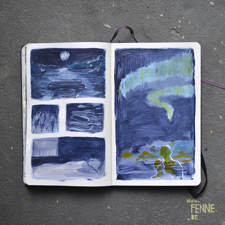 summer sketches | A5 Moleskine sketchbook | www.Fenne.be