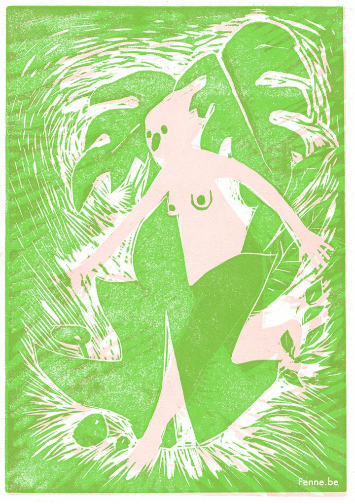 049cLinocut |www.Fenne.be | Illustration