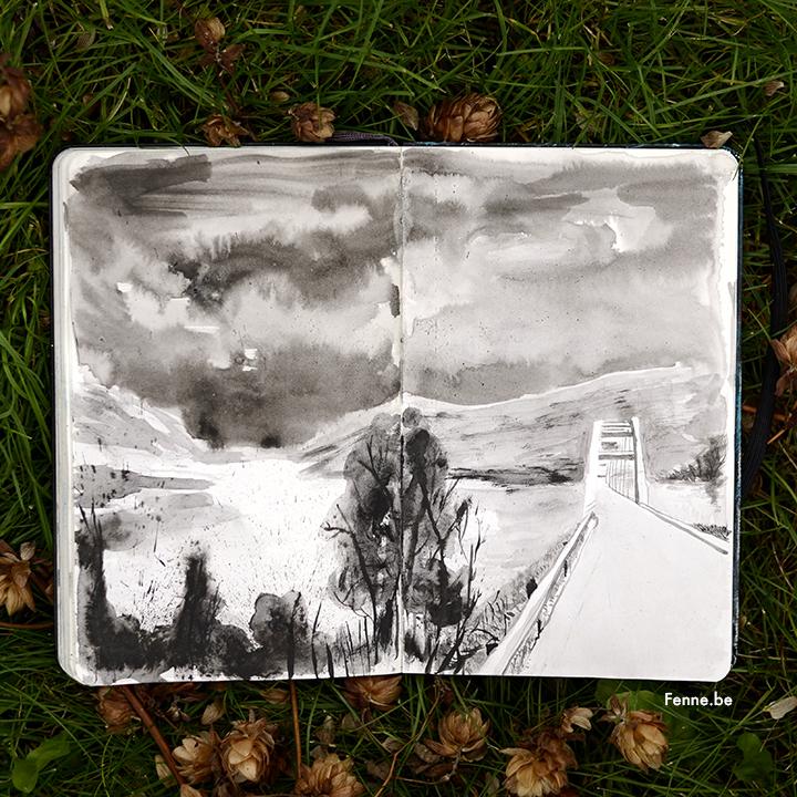 Moleskine sketchbook | www.Fenne.be