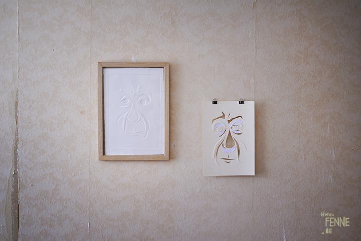 Blind print workshop | Meken Smedjebakcen | Sweden | exhibition space | www.Fenne.be