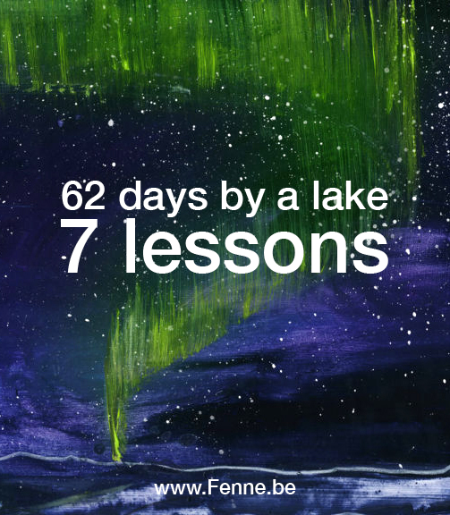 62 days north | 7 lessons | www.Fenne.be