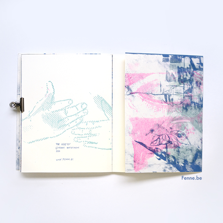 The Rooftop, a zine about love and freedom. Handmade, Simili Japon paper & screenprinted  www.Fenne.be