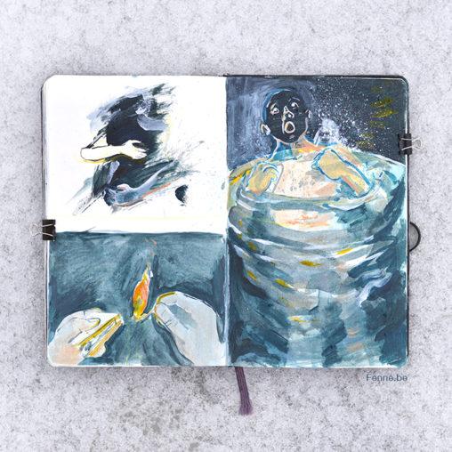 Inside my sketchbook | Moleskine | www.Fenne.be
