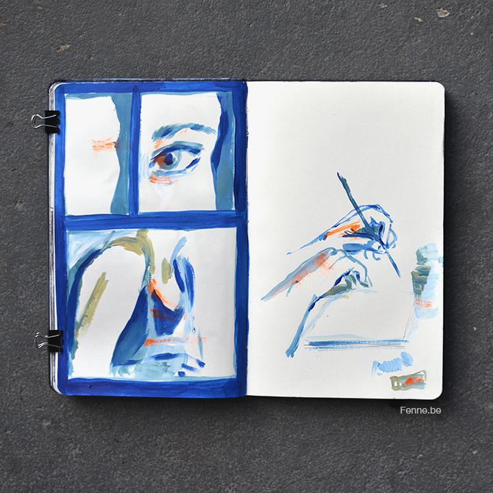 Inside my sketchbook | blogging at www.Fenne.be | Art, travel, Scandinavia