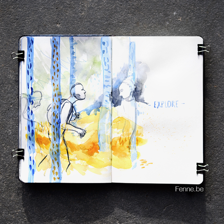 Inside my sketchbook | blogging at www.Fenne.be | Art, travel, Scandinavia