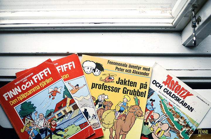 Second hand comics, translated from Dutch to Swedish | www.Fenne.be