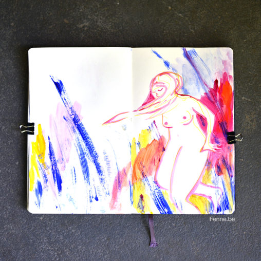 Moleskine sketchbook update | Artist, artlife, sketching | www.Fenne.be