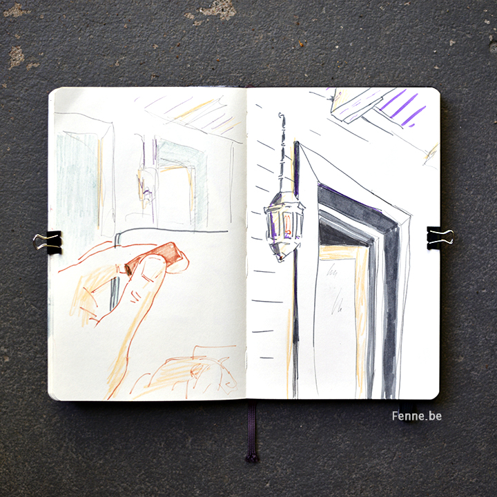 Inside my sketchbook | art blog on www.Fenne.be | travelsketches