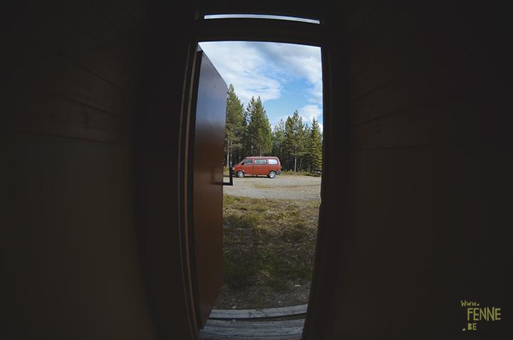 Volkswagen California campervan camping in Sweden, www.Fenne.be
