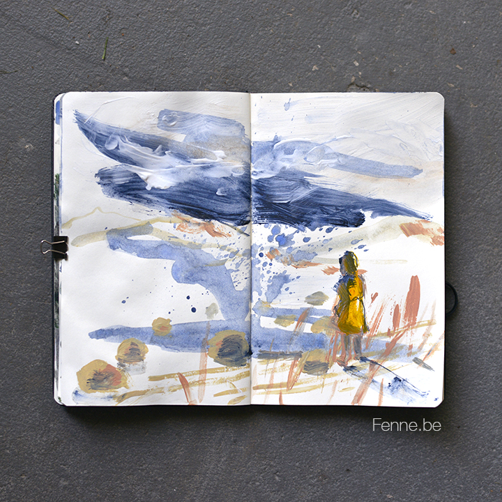 Sketchbook | moleskine | art & blog on www.Fenne.be