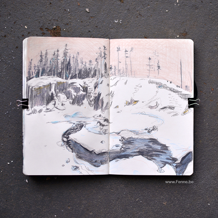 Inside my sketchbook | art blog, drawings, moleskine | www.Fenne.be