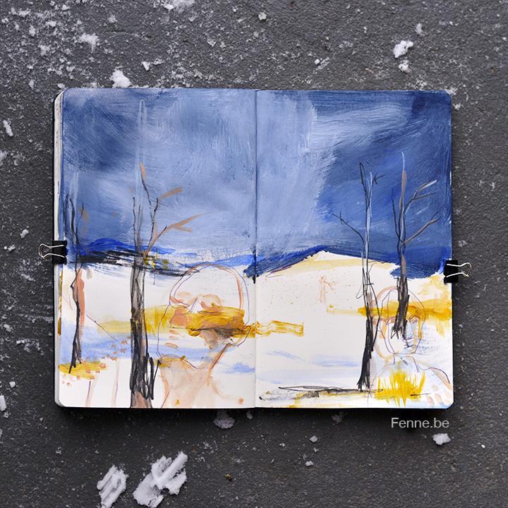 Inside my sketchbook | art blog, drawings, moleskine | www.Fenne.be