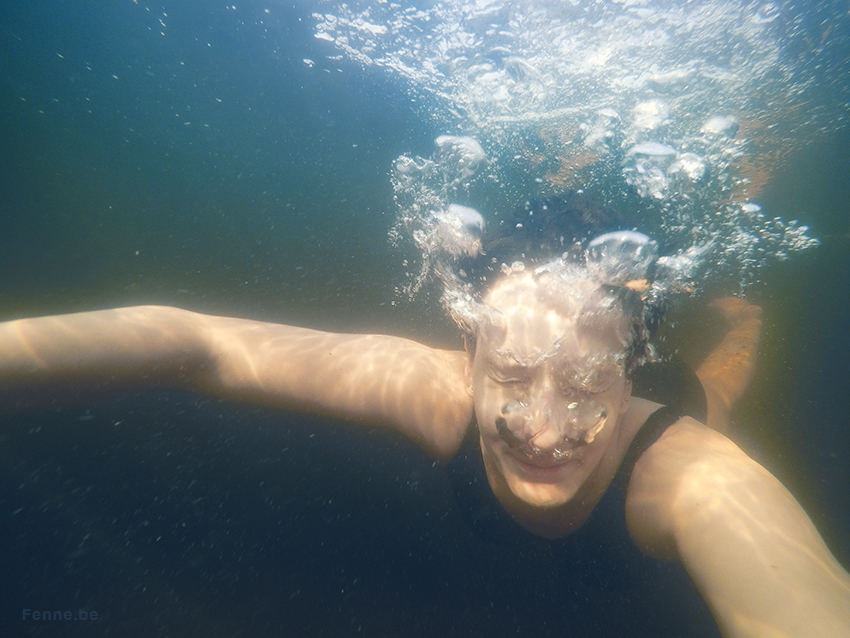 Early morning swim in the lake, Sweden, Dalarna, freedom, gopro, www.Fenne.be