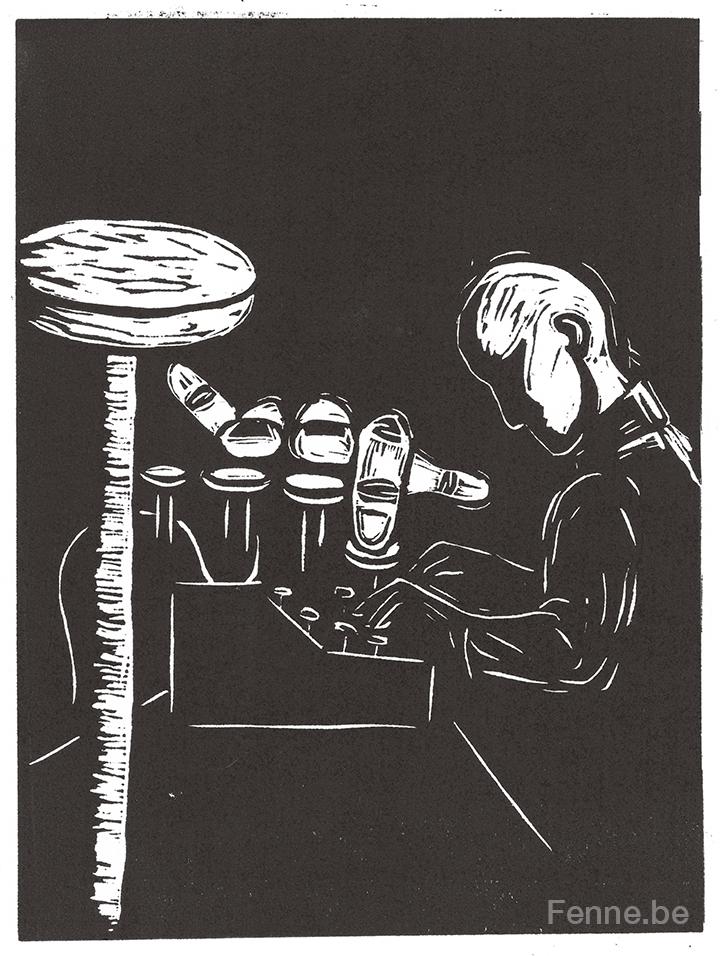 Allen Ginsberg, Howl, beat poetry, beat generation, American poetry, linocut, www.Fenne.be