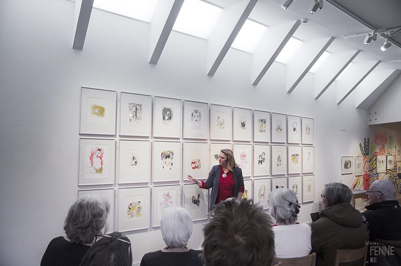 Kitty Crowther lecture + exhibition, Uppsala, Sweden, 2019, www.Fenne.be