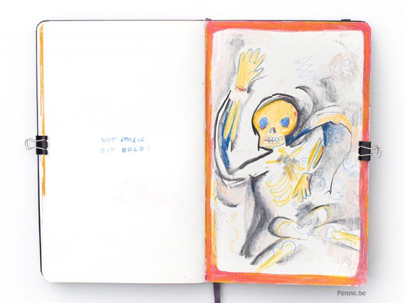 Moleskine sketchbook, creative art life, sketching, pencil drawing, www.Fenne.be