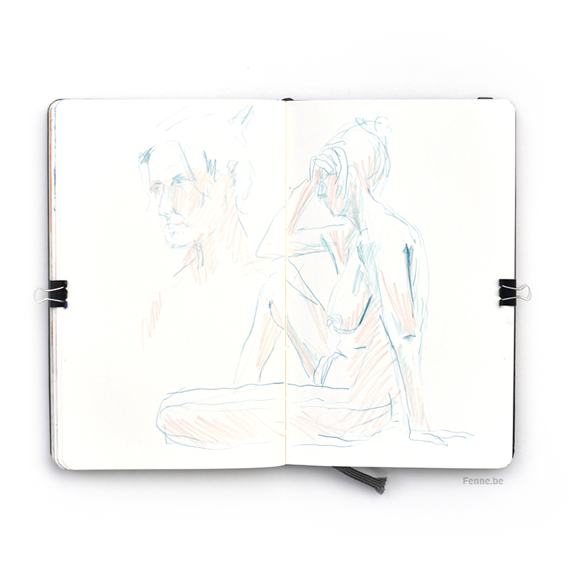 Sketchbook Falun model drawing, www.Fenne.be