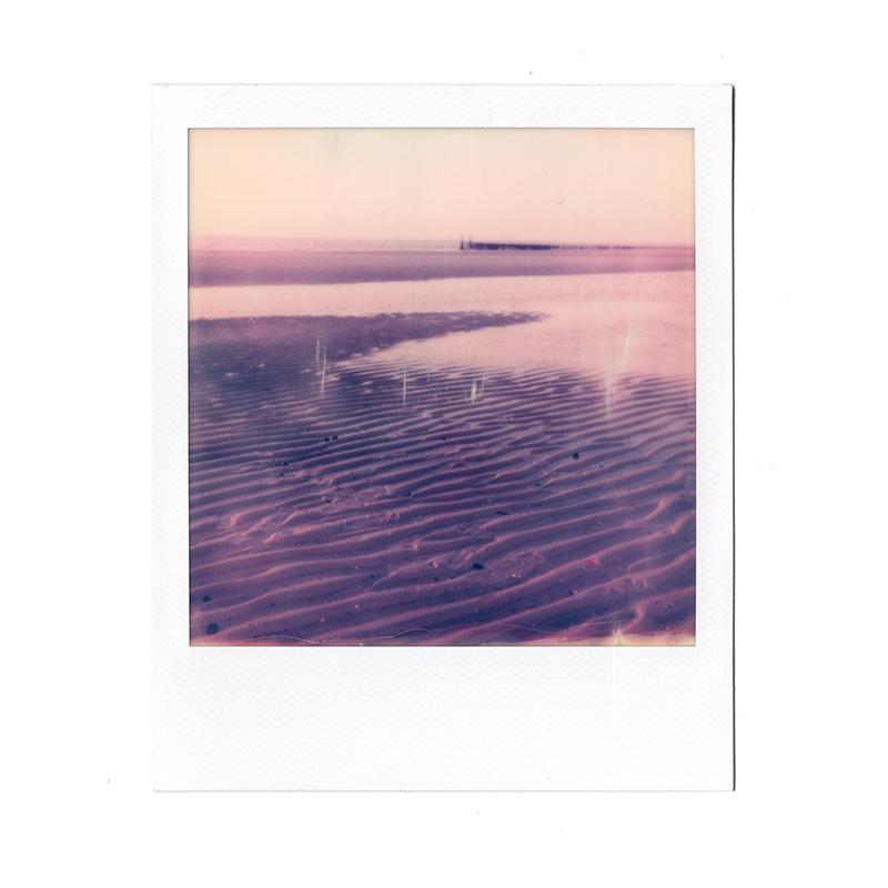 Polaroid image beach, Belgium, www.Fenne.be