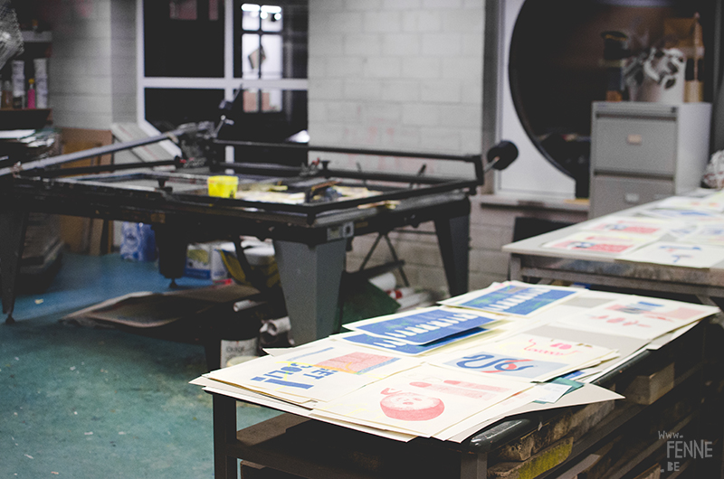 Screen printing, Antwerp Belgium, art and illustration www.Fenne.be