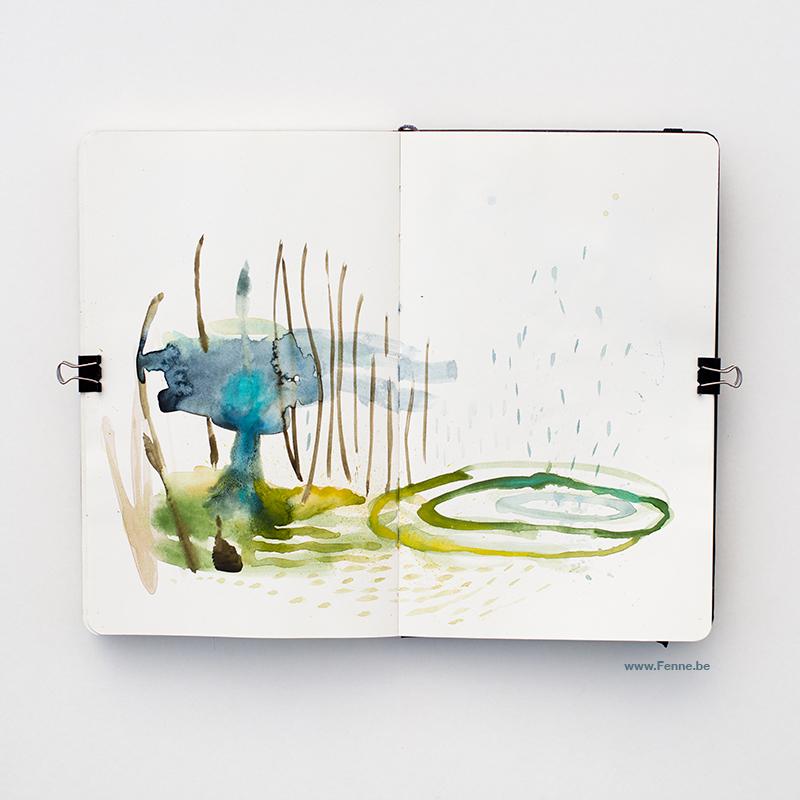 Fenne Kustermans, moleskine sketchbook, Sweden, konstnär, illustrator, www.Fenne.be