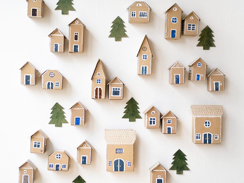 advent cardboard diy decoration. www.Fenne.be