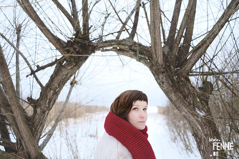 Creating self-portraits with Fujifilm xt-4 camera, Dalarna, Sweden, portrait photography, Instagram photoshoot, snow landscape, frozen lake, www.Fenne.be