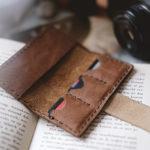 Handmade leather memory card case, www.Fenne.be