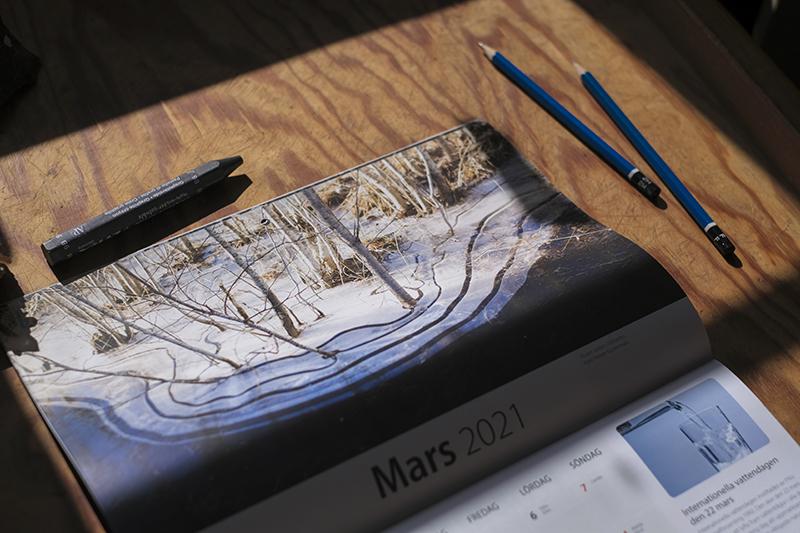 Local calendar Dalarna, natur fotografi Fenne Kustermans, www.Fenne.be