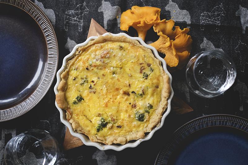 Västerbottenspaj, Pie with cheese and Chanterelles mushrooms, Swedish cuisine, www.Fenne.be