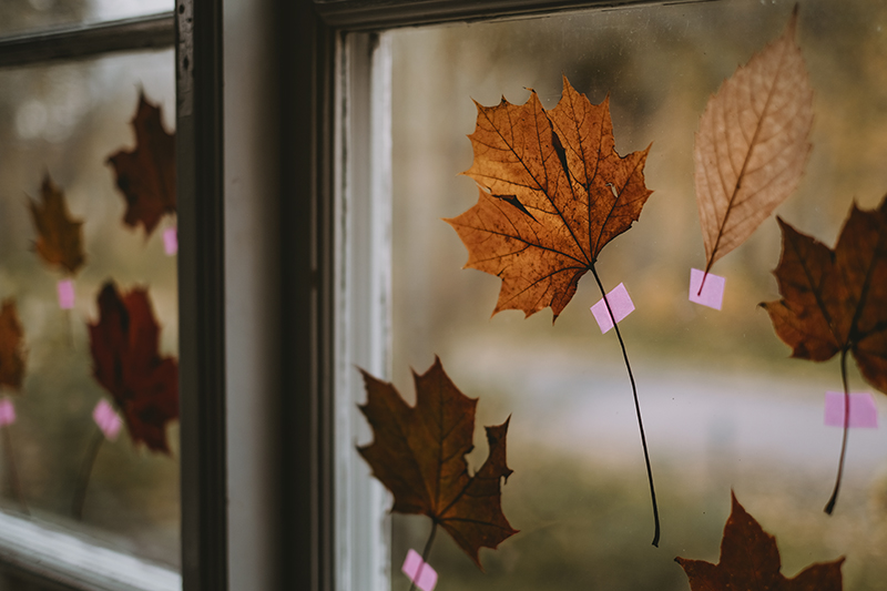 Autumn leaf, autumn decoration, fall season, hygge, neon washi tape, www.Fenne.be